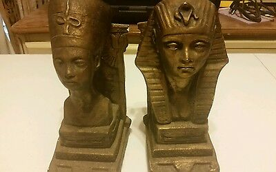 egyptian book ends King tut Cleopatra