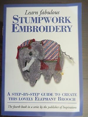 Stumpwork Embroidery - Step By Step Guide To Create Lovely Elephant Brooch