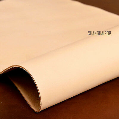 1mm Thick Natural Veg Tanned Cowhide Shoe Lining Craft Leather Top DIY Tool New
