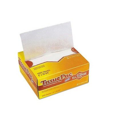 "Dixie Tissue Pac Dry Wax Paper 6"" x 10 3/4"" 1,000 Count  White – New Item"
