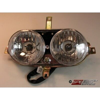 Headlight Assembly DOT Approved Scooter Moped ~ US Seller