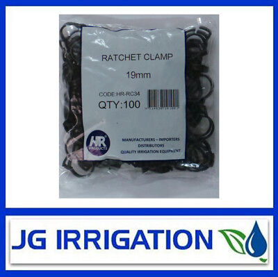 19mm Low Density Poly Ratchet Clips Bag of 100 Free Post