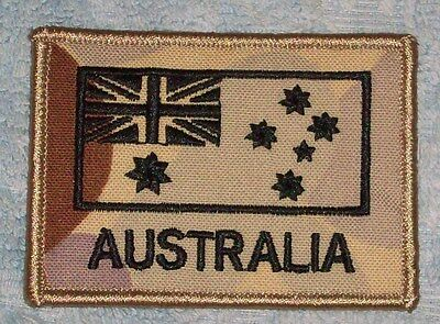 Flag Patch Australian Desert Camo Coloured Subdued #5 New