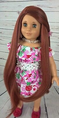 "10-11 Custom Doll Wig fit Blythe-American Girl-1/4 Size ""Charred Copper"" bn1"