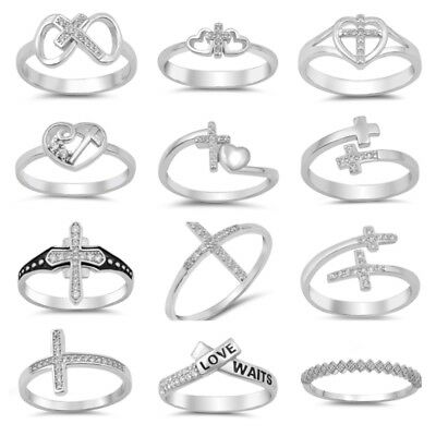 NEW! FASHION Sterling Silver- HEART, MEDIEVAL, CROSS, INFINITY RINGS SIZES 4-10