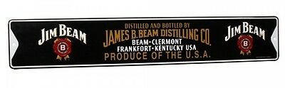 New Collectable barware Authentic Jim Beam Tin Street Sign Large Bar Man Cave