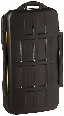 JJC MC-SD12 Water-Resistant Holder Storage Memory Card Case for 12 SD Cards Bla
