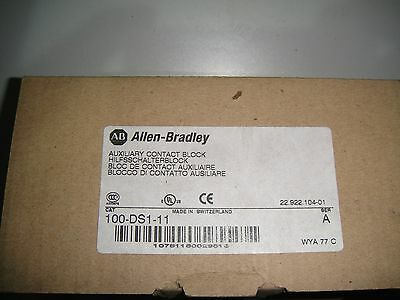 Allen Bradley Auxiliary Contact Block 100-DS1-11 *BRAND NEW IN BOX*