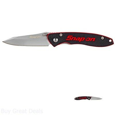 New Hand Tool Durable Heavy Duty 2.5 in. Folding Knife with Black G-10 Handle