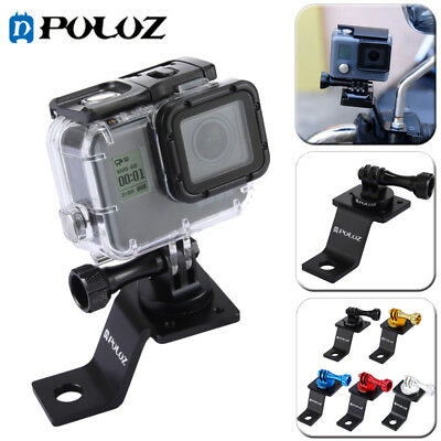 PULUZ Aluminum Motorcycle Fixed Holder Mount Adapter For GoPro HERO5 4 3+ 3 2 1