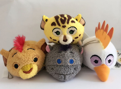4 Styles Disney TSUM TSUM The Lion Guard Kion Beshte Mini Plush Toys With Chain
