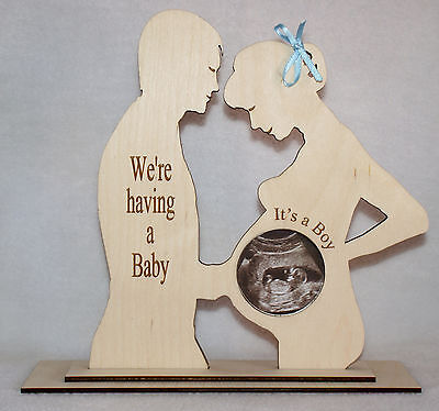 """""""We'Re Having A Boy"""" Couples Baby Scan Photo Keepsake Photo Frame With Cover"""