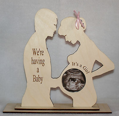 """""""We'Re Having A Girl"""" Couples Baby Scan Photo Keepsake Photo Frame With Cover"""