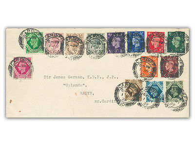 1939 King George VI Definitives FDC