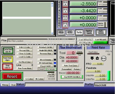 Engraving Mach3 controller software with lience,Commissioning tool road G code