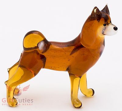 Art Blown Glass Figurine of the Siberian Husky dog