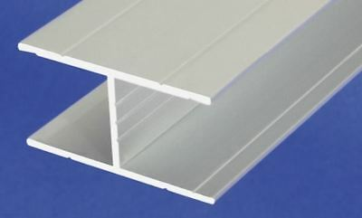 Aluminum Anodised Channel H Shape Section Grooved Bar, H-profile, 1 m