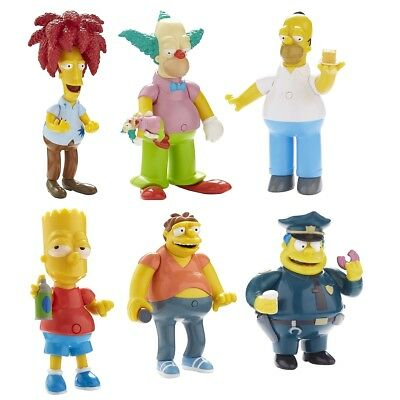The Simpsons Talking Toy Figure SIX PACK Kids Gift Pretend Role Play Toys 6 Set