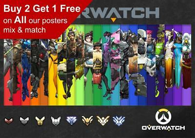 Overwatch Game Characters Poster A5 A4 A3 A2 A1