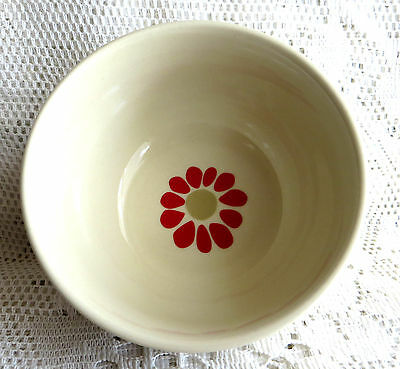 Laura Ashley Pottery Stoneware Bowl Cream & Red Chintzy Country Kitchen New