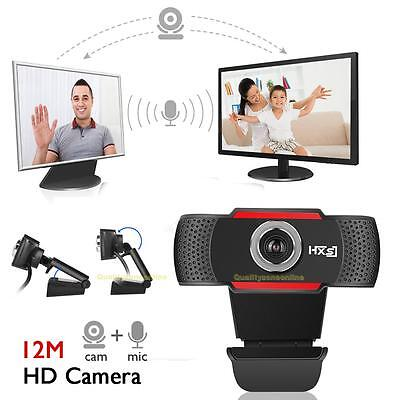 USB 12.0 MP HD Webcam Camera Clip-on Web Cam with Mic for Computer PC Laptop