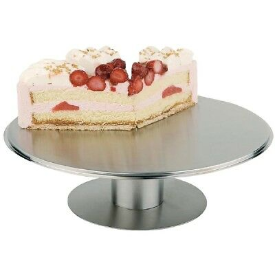 APS Rotating Cake Stand Stainless Steel Cover Buffet Display Party Tableware