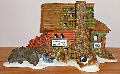 Dept 56 New England Village Series SEMPLE'S SMOKE HOUSE Lighted Christmas