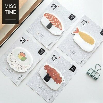 Kawaii Japanese Cute Sushi Memo Pad Post It Note Sticky Notes