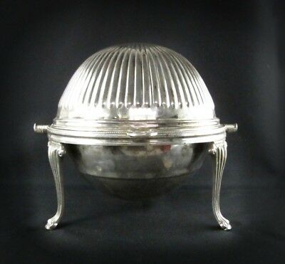 Sheffield Revolving Butter Dish Silver Plated