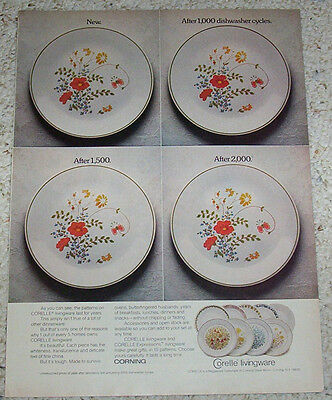 1979 advertising page - Corelle wildflower dinnerware Corning Glass Works Old AD