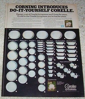 1978 ad page - Corelle Livingware dinnerware Corning Glass vintage ADVERTISING
