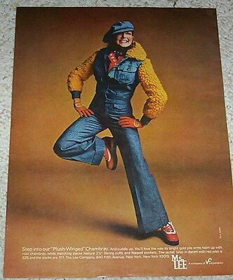 1973 vintage ad - Ms Lee jeans SUSAN BLAKELY cute fashion print ADVERT Page
