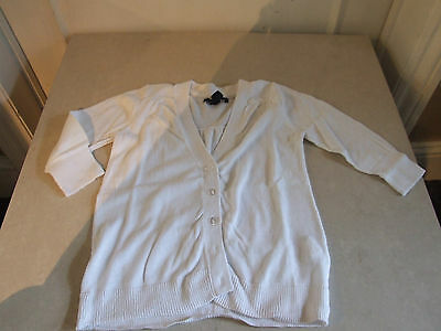 Wonderful Gap Kids Girl's White Button Down Cardigan Cardi Girl Age 4-5 Years