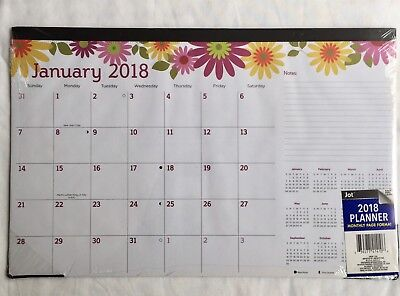 2018 Desk Calendar Pad Wall Monthly Office Daily Yearly Planner Floral NEW