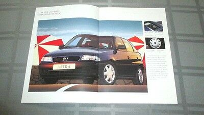 1993 Opel Astra Sunshine Sales Brochure