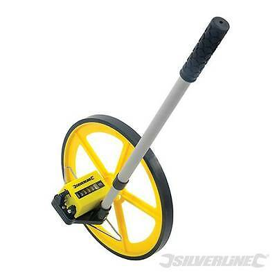 Silverline Surveyors Measuring Wheel Adjustable Handle 0-9999m Metric 633468 N5