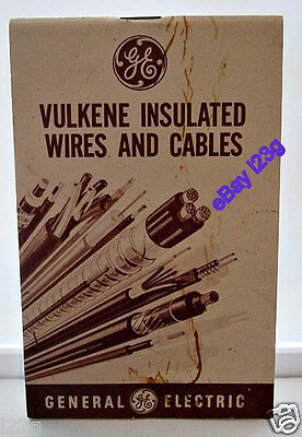VINTAGE advertising GE VULKENE INSULATED WIRES & CABLES notepad GENERAL ELECTRIC