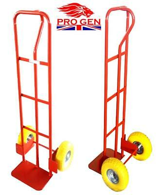 New 300Kg Puncture Proof Industrial Sack Truck Hand Trolley Wheel Barrow Cart