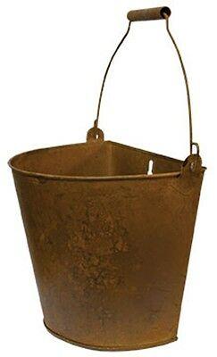 Vintage Style Rusty Brown Large Wall Bucket