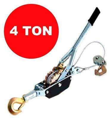 4 Ton Cable Puller Pulling Hand Power Winch Hoist Turfer Trailer Car