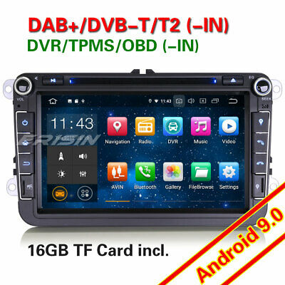 Android 7.1 Autorradios GPS Radio For VW Passat CC Golf Tiguan Touran Seat DAB+