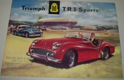 1957 Triumph T.r.3  Dealers Car Sales Brochure, 8 Pgs, Excellent Condition