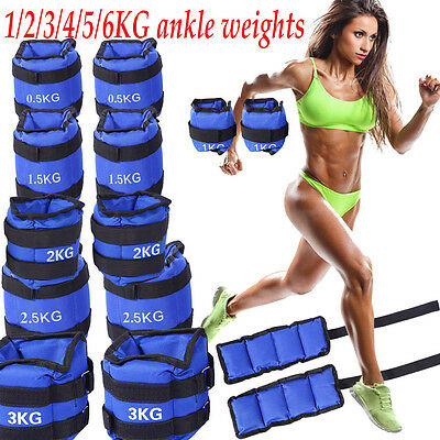Pro Running Training Wrist Ankle Weights Fitness Gym Resistance Stength Sports