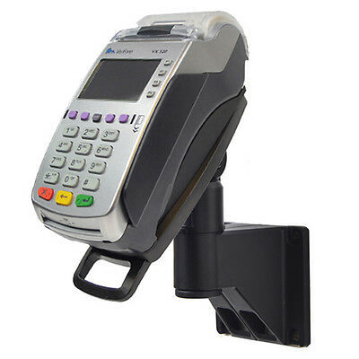 Credit Card Stand - For Verifone VX520 49mm - Wall Mount Complete w/Lock + Key
