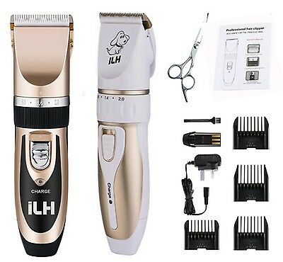 Low Noise Cordless Electric Dog Cat Pet Clipper Hair Grooming Trimming Shave Kit
