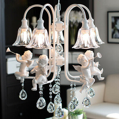Modern crystal Chandeliers with the angel for living room light modern lamps Hot