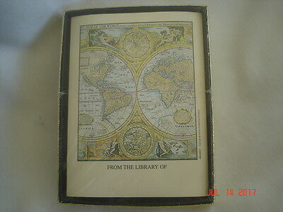 SEALED BOX Vtg. ANTIOCH Map of the World BOOKPLATES Made in U.S.A.
