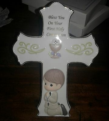 Precious Moments Communion Cross for a Boy