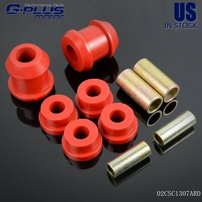Red Front Lower Control Arm Bushing For 92-95 Civic 94-01 Integra 93-97 Del Sol