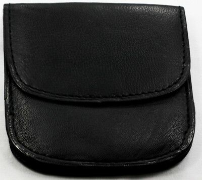 Black Leather KIDS TAXI CABBIE Front Pocket Coin WALLET Rounded Bottom NEW ST94